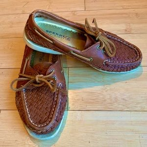 Sperry Top-Sider A/O 2-Eye Woven Boat Shoe - Brown